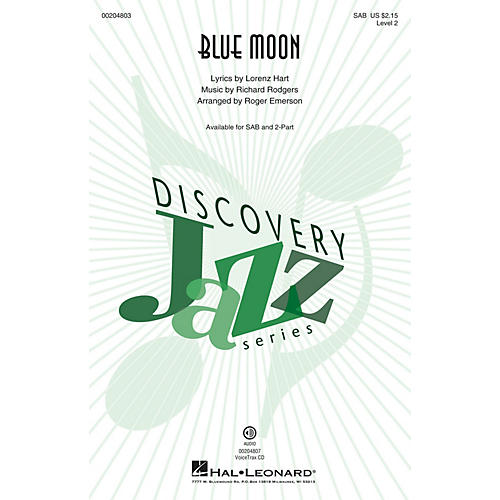 Hal Leonard Blue Moon (Discovery Level 2) VoiceTrax CD Arranged by Roger Emerson