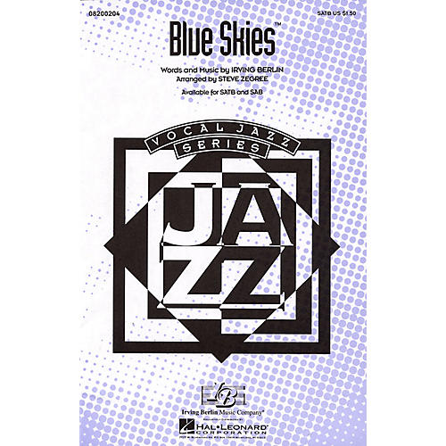 Hal Leonard Blue Skies SAB Arranged by Steve Zegree