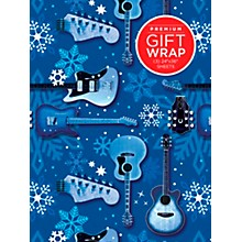 Hal Leonard Blue Snowflake Guitar Premium Gift Wrapping Paper