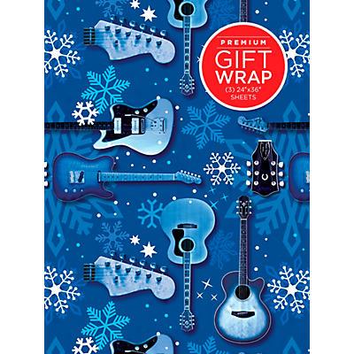 Hal Leonard Blue Snowflake Guitar Premium Gift Wrapping Paper