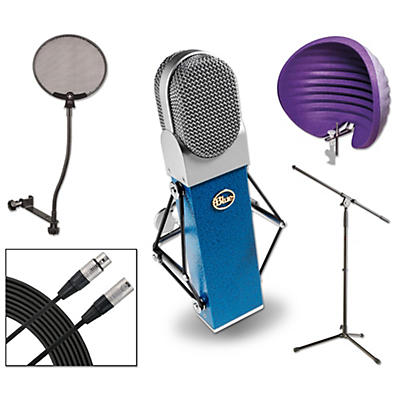 Blue Blueberry HALO Vocal Shield Stand 2 Pack Pop Filter and Cable Kit