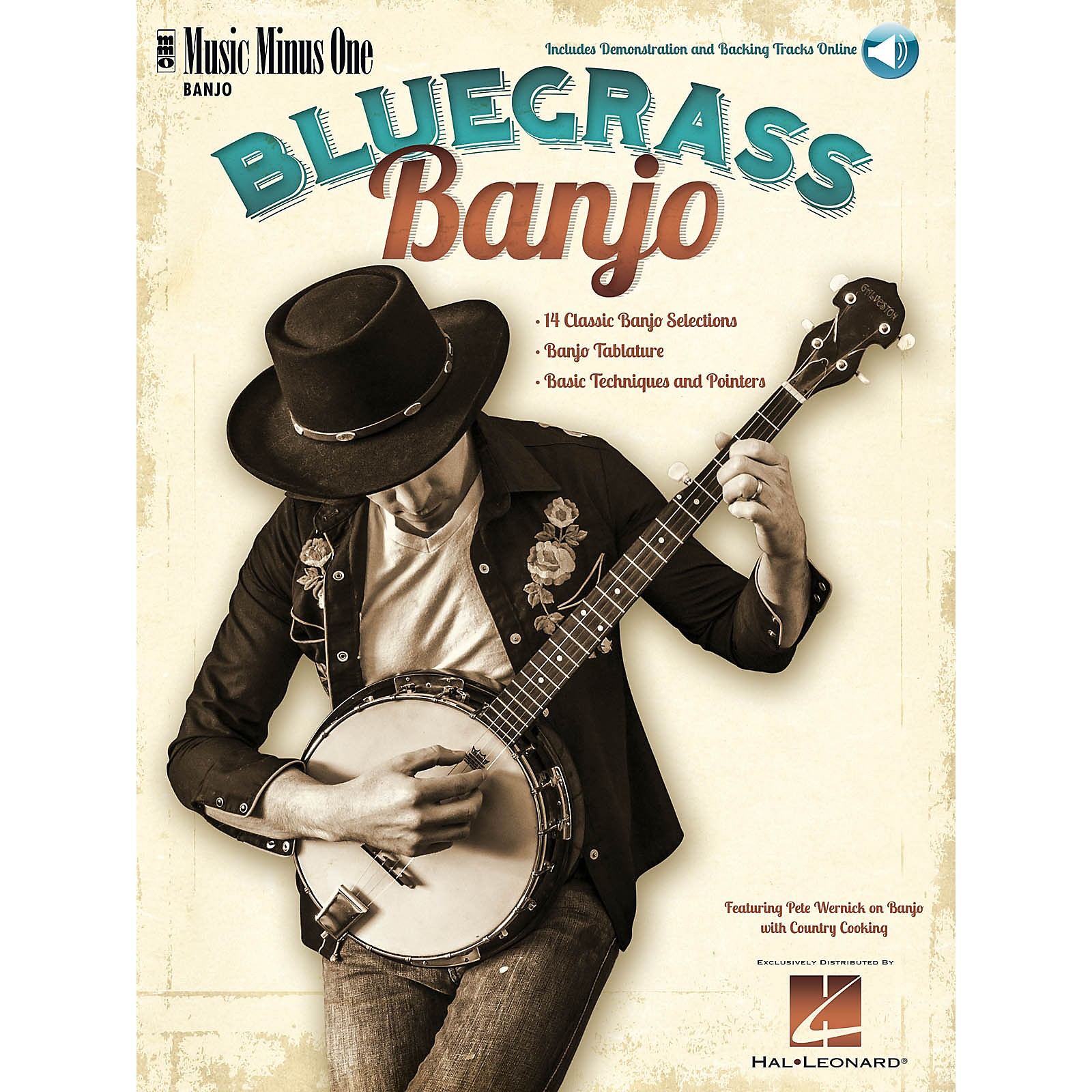 Music Minus One Bluegrass Banjo Softcover with Online Audio