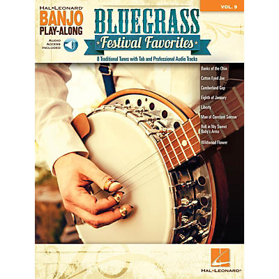 Hal Leonard Bluegrass Festival Favorites Banjo Play-Along Volume 9 Book/Audio Online