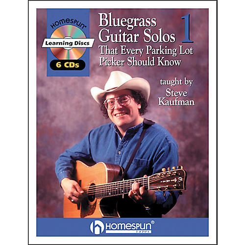 Homespun Bluegrass Guitar Solos That Every Parking Lot Picker Should Know (Series 1) Book/6 CD's