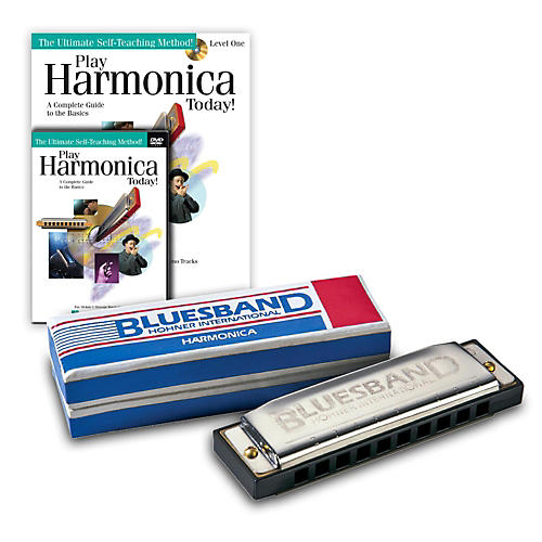 Hohner Blues Band 1501 C Harmonica and <em>Play Harmonica Today!</em> Pack Kit C