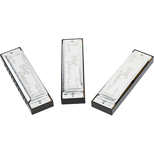 Fender Blues Deluxe Harmonicas (3-Pack with Case, Keys of C, G and A)