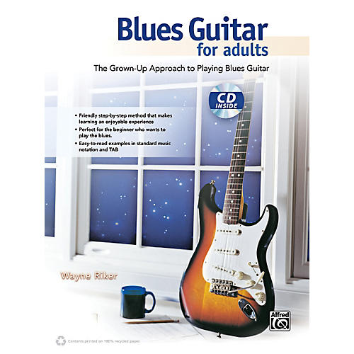 Alfred Blues Guitar for Adults Book & CD