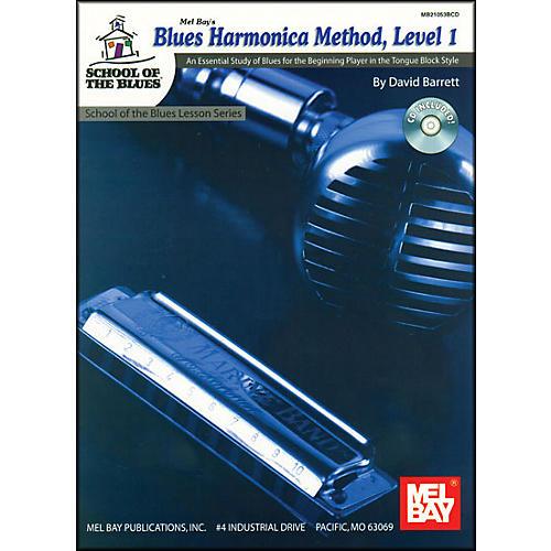 Mel Bay Blues Harmonica Method, Level 1 Book and CD