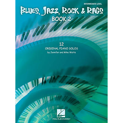 Hal Leonard Blues, Jazz, Rock & Rags - Book 2 Educational Piano Solo Series Book by Jennifer Watts (Level Inter)