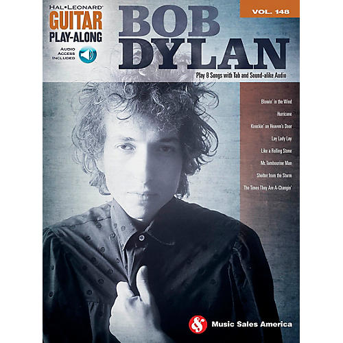Music Sales Bob Dylan - Guitar Play-Along Volume 148 Book/CD