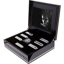 Hohner Bob Dylan Hand-Signed Natural Key 7-Piece Harmonica Set