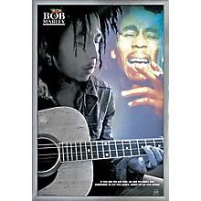 Bob Marley - Guitar Poster Framed Silver