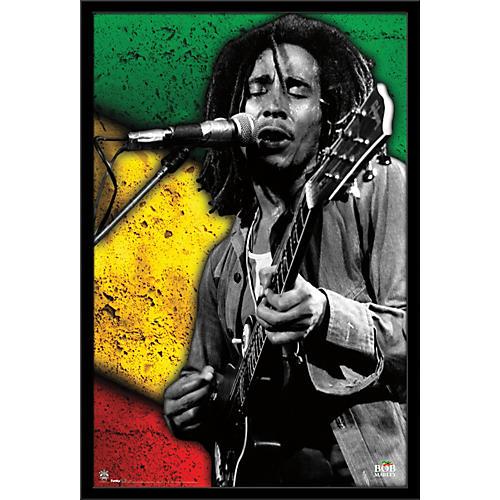 Trends International Bob Marley - Jam Poster Framed Black