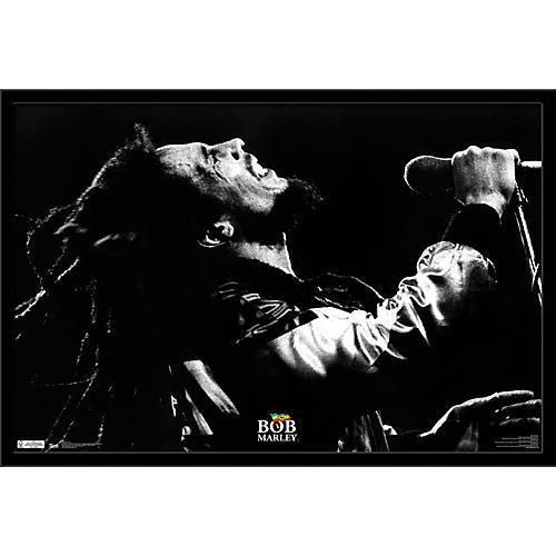 Trends International Bob Marley - Live Poster Framed Black
