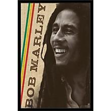 Bob Marley - Smile Poster Framed Black