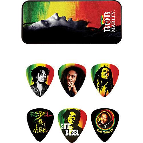 Dunlop Bob Marley Rasta Man Pick Tin with 6 Medium Picks