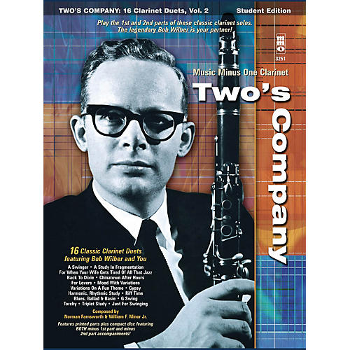 Music Minus One Bob Wilbur - Two's Company: 16 Clarinet Duets Music Minus One Series BK/CD by Bob Wilbur