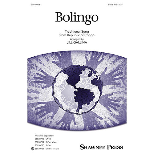 Shawnee Press Bolingo SATB arranged by Jill Gallina