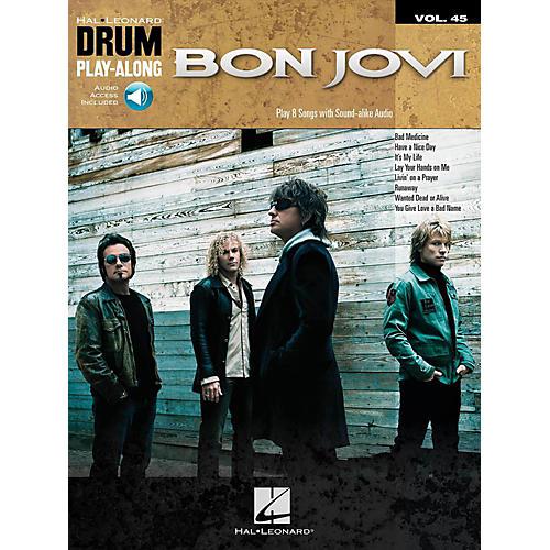 Hal Leonard Bon Jovi - Drum Play-Along Volume 45 (Book/Audio Online)
