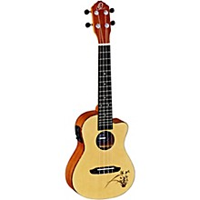 Ortega Bonfire RU5CE Concert Acoustic-Electric Ukulele with Cutaway