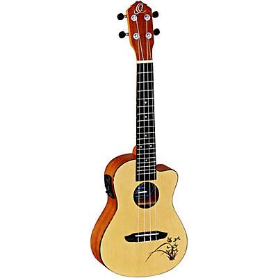 Ortega Bonfire RU5CE Concert Acoustic-Electric Ukulele with Cutaway