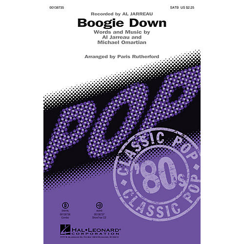 Hal Leonard Boogie Down ShowTrax CD by Al Jarreau Arranged by Paris Rutherford