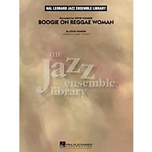 Hal Leonard Boogie On Reggae Woman Jazz Band Level 4 by Stevie Wonder Arranged by Mike Tomaro