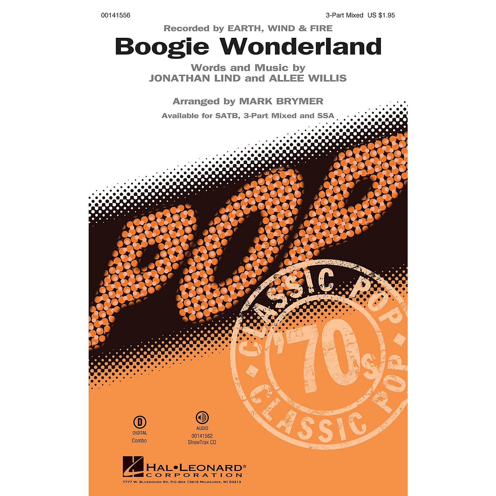 Hal Leonard Boogie Wonderland 3-Part Mixed by Earth, Wind and Fire arranged by Mark Brymer