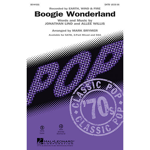 Hal Leonard Boogie Wonderland SATB by Earth, Wind & Fire arranged by Mark Brymer