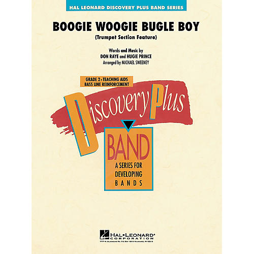 Hal Leonard Boogie Woogie Bugle Boy - Discovery Plus Concert Band Series Level 2 arranged by Michael Sweeney