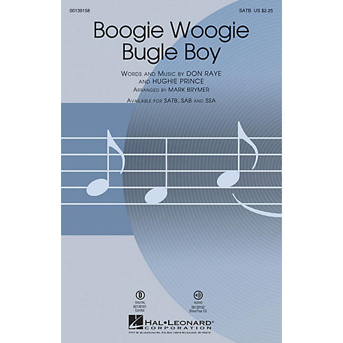 Hal Leonard Boogie Woogie Bugle Boy SAB by Bette Midler Arranged by Mark Brymer