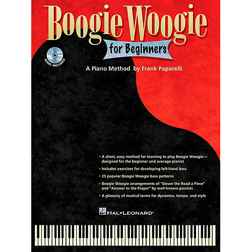 Hal Leonard Boogie Woogie For Beginners - A Piano Method By Frank Paparelli Book/CD