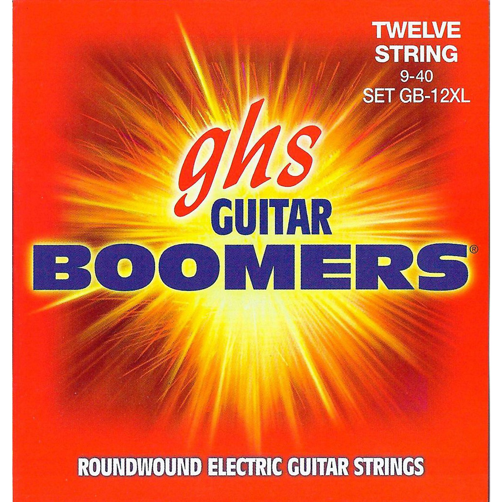 GHS Boomer 12 String Extra Light Electric Guitar Set (9-40)