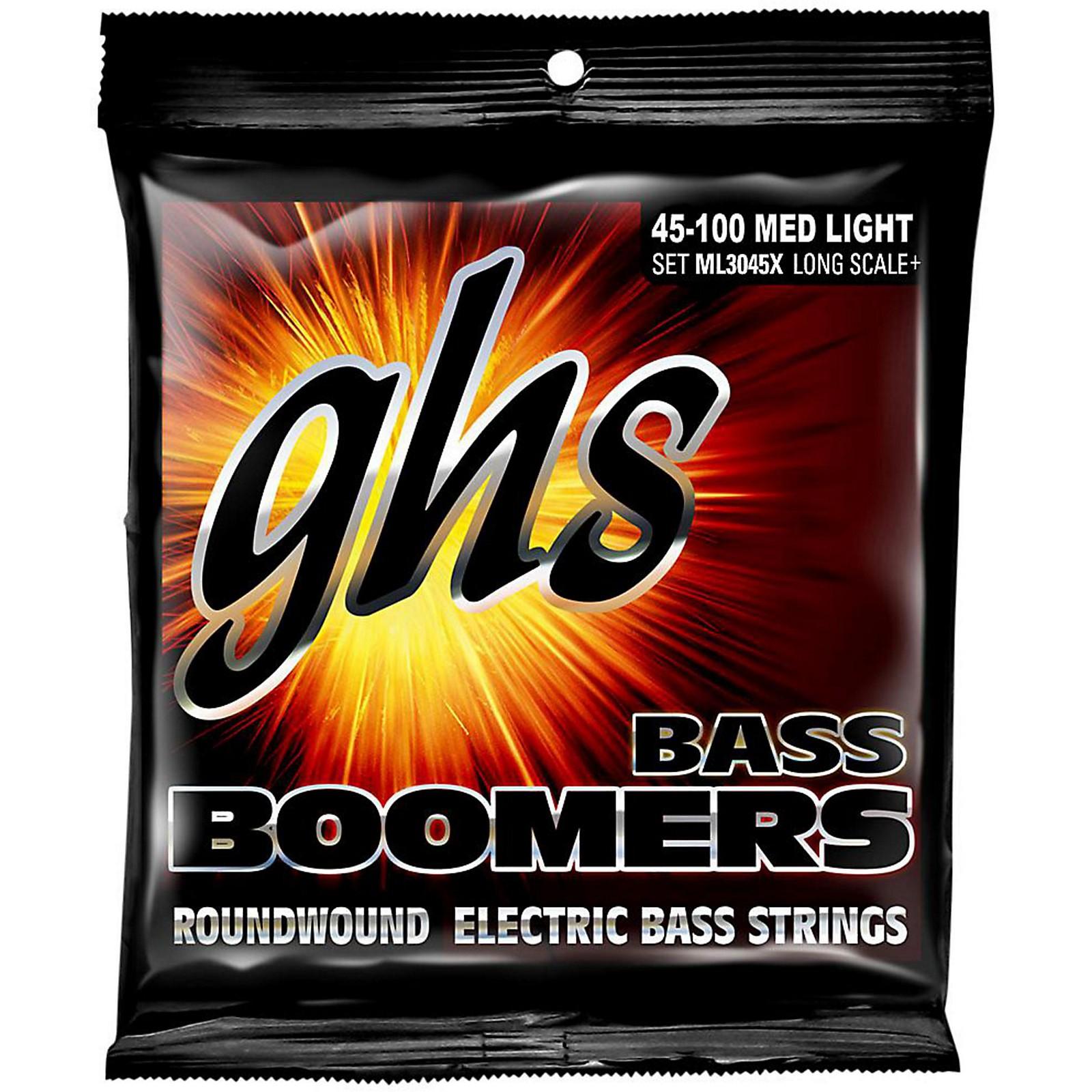 GHS Boomers Long Scale Plus Medium Light Bass Guitar Strings