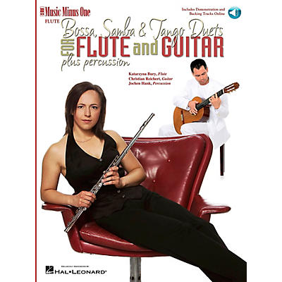 Music Minus One Bossa, Samba and Tango Duets for Flute & Guitar Music Minus One Series Softcover with CD