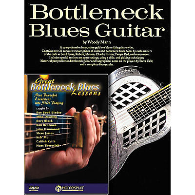 Homespun Bottleneck Guitar Pack Homespun Tapes Series Softcover with DVD Written by Woody Mann