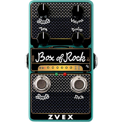 Zvex Box of Rock Vertical Overdrive Effects Pedal Condition 1 - Mint