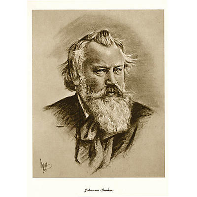 Music Sales Brahms (Lupas Large Portrait Poster) Music Sales America Series