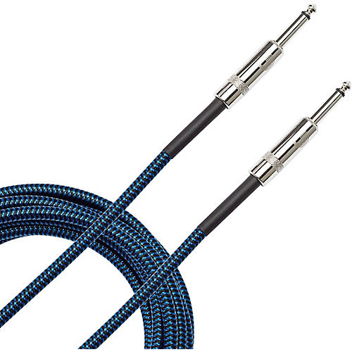 D'Addario Planet Waves Braided Instrument Cable 10 ft. Blue
