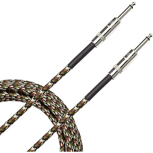 D'Addario Planet Waves Braided Instrument Cable 15 ft. Military Green