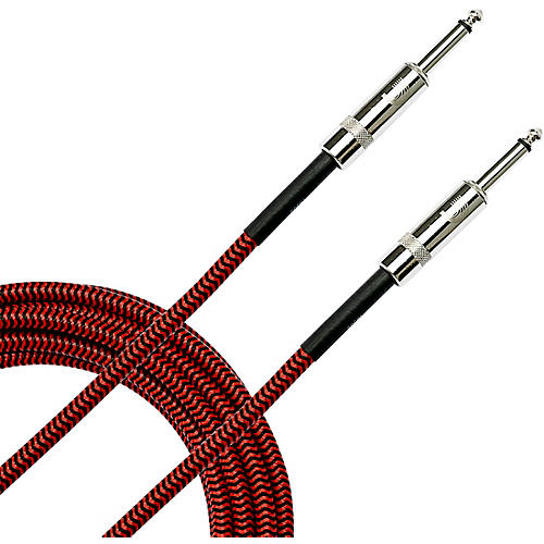 D'Addario Planet Waves Braided Instrument Cable 20 ft. Red