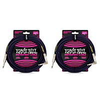 Deals on 2-Pack Ernie Ball Braided Straight to Angle Instrument Cable 20 ft.