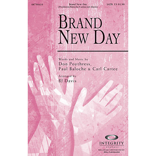 Integrity Choral Brand New Day Accompaniment CD by Carl Cartee Arranged by BJ Davis