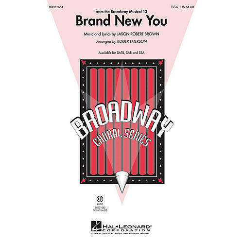 Hal Leonard Brand New You (from 13) SSA arranged by Roger Emerson