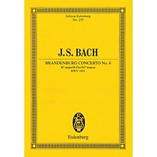 Eulenburg Brandenburg Concerto No. 6 in B-flat Major, BWV 1051 Schott Series Softcover by Johann Sebastian Bach