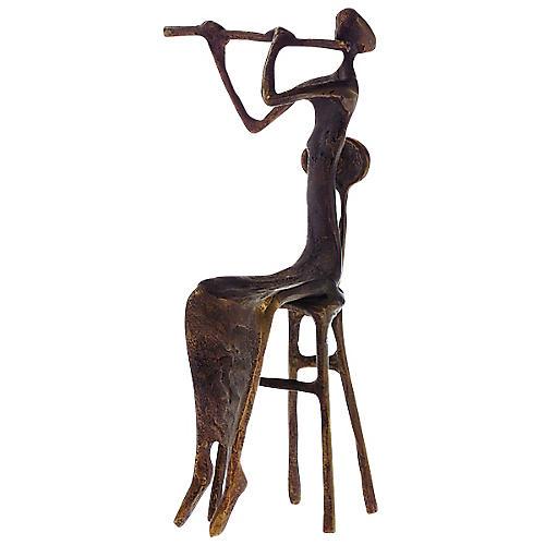 AIM Brass Flutist Figurine