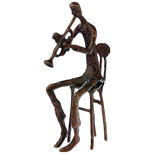 AIM Brass Trumpet Player Figurine