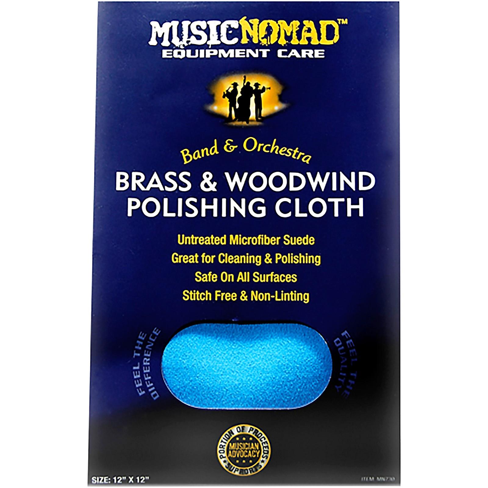 MusicNomad Brass & Woodwind Untreated Microfiber Polishing Cloth