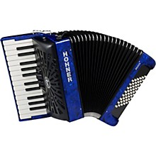 Bravo II 48 Accordion with Black Bellows Blue