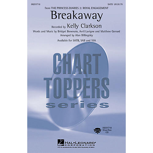 Hal Leonard Breakaway ShowTrax CD by Kelly Clarkson Arranged by Alan Billingsley